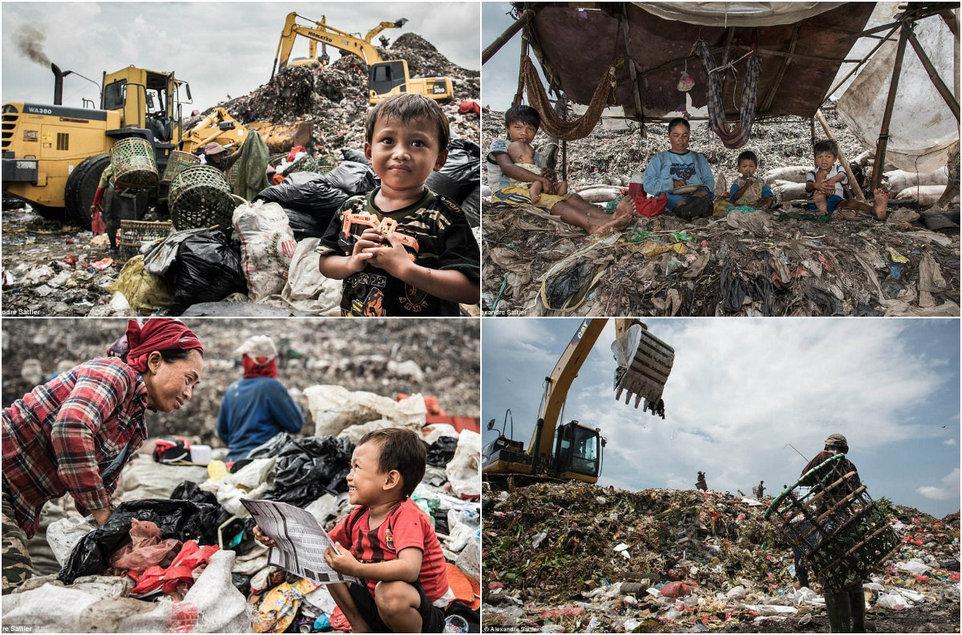 Свалка в Индонезии, на которой живут 3000 семей