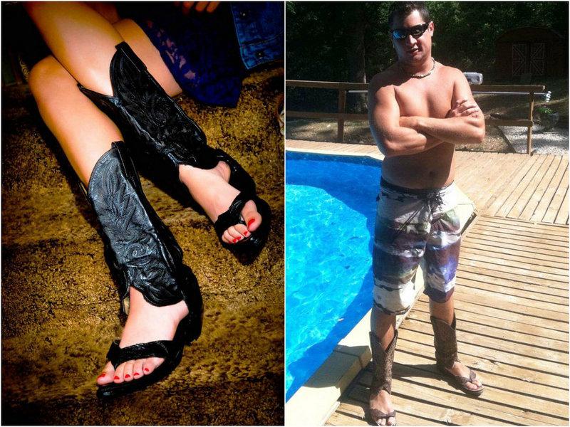 Последний писк моды: ковбойские сандалии