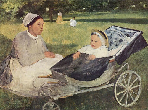 Портрет Анри Вальпинсона в младенчестве с гувернанткой, Эдгар Дега