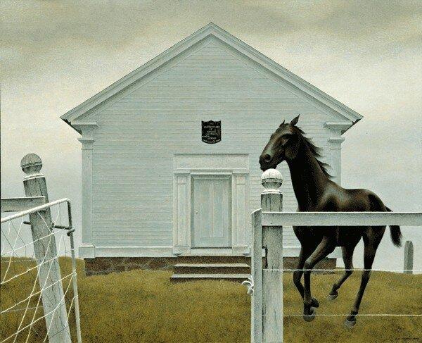 David Alexander Colville, painter (born 24 Aug 1920 in Toronto, Ontario died 16 July 2013 in Wolfville, Nova Scotia).