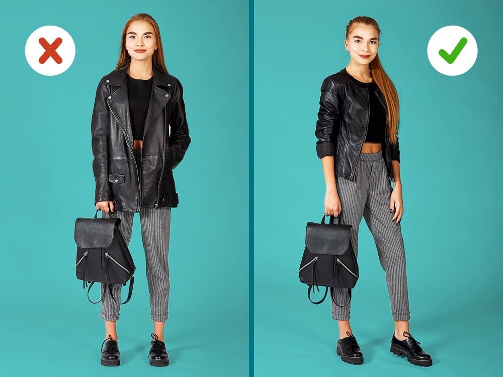 Невысоким девушкам нестоит носить объемные иудлиненные жакеты, пиджаки икуртки— они визуально ук