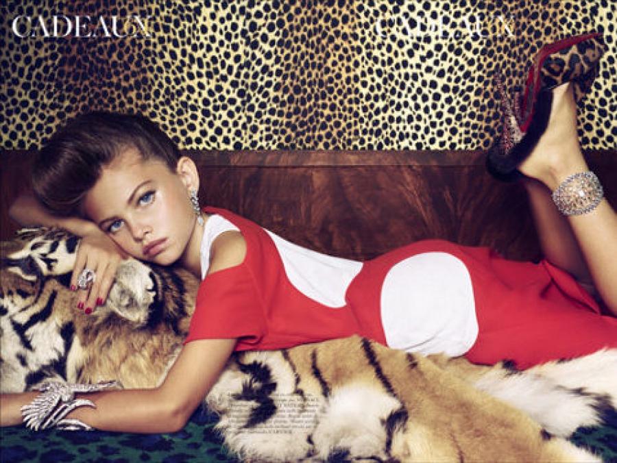 Тилан Блондо 10-летняя французская модель снялась в фотосессии для Vogue, где примерила взрослые нар