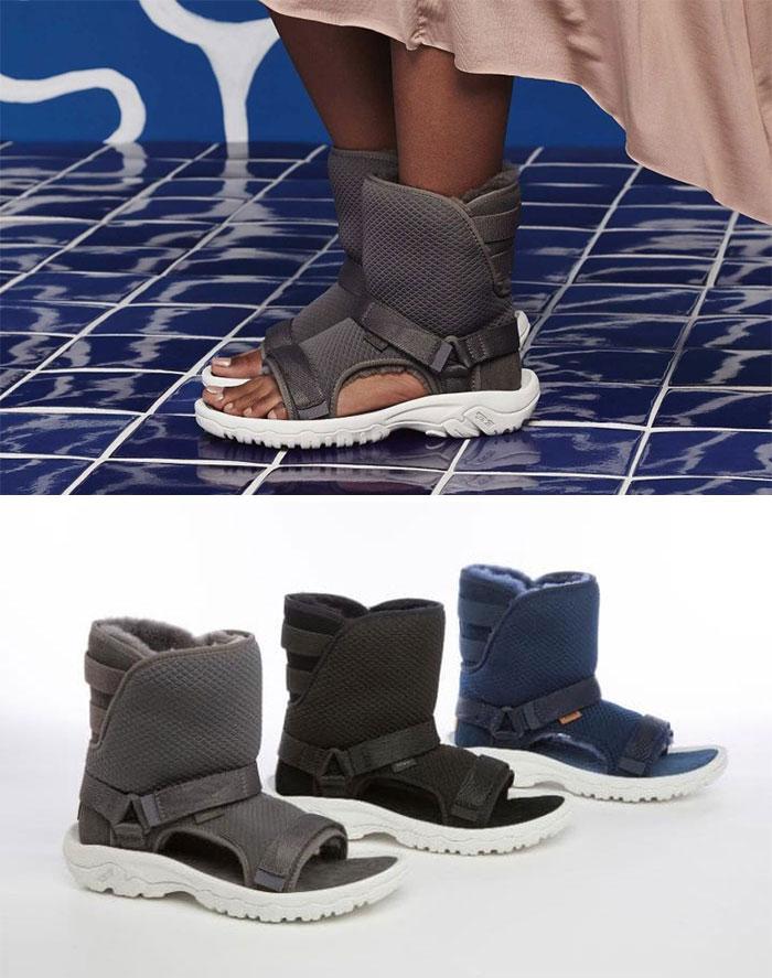 Такие вот сандалии от Teva.