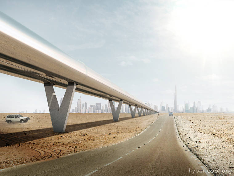 Hyperloop – The first subsonic train will link Dubai to Abu Dhabi in 12 minutes (12 pics)