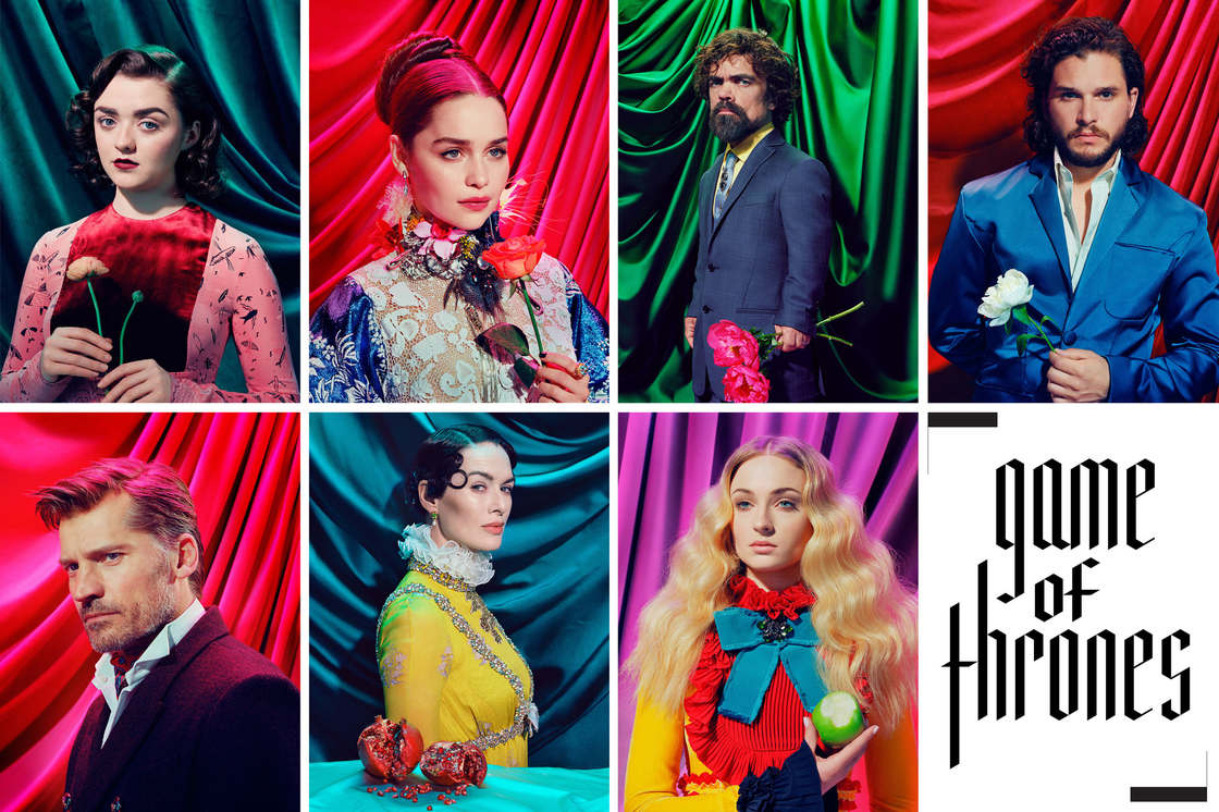 Game of Thrones - The characters of the cult series in a psychedelic shoot