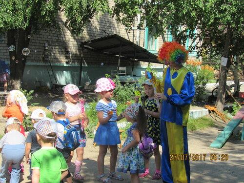 В детском саду «Пчёлка» в первой младшей группе прошло развлечение с Клоуном
