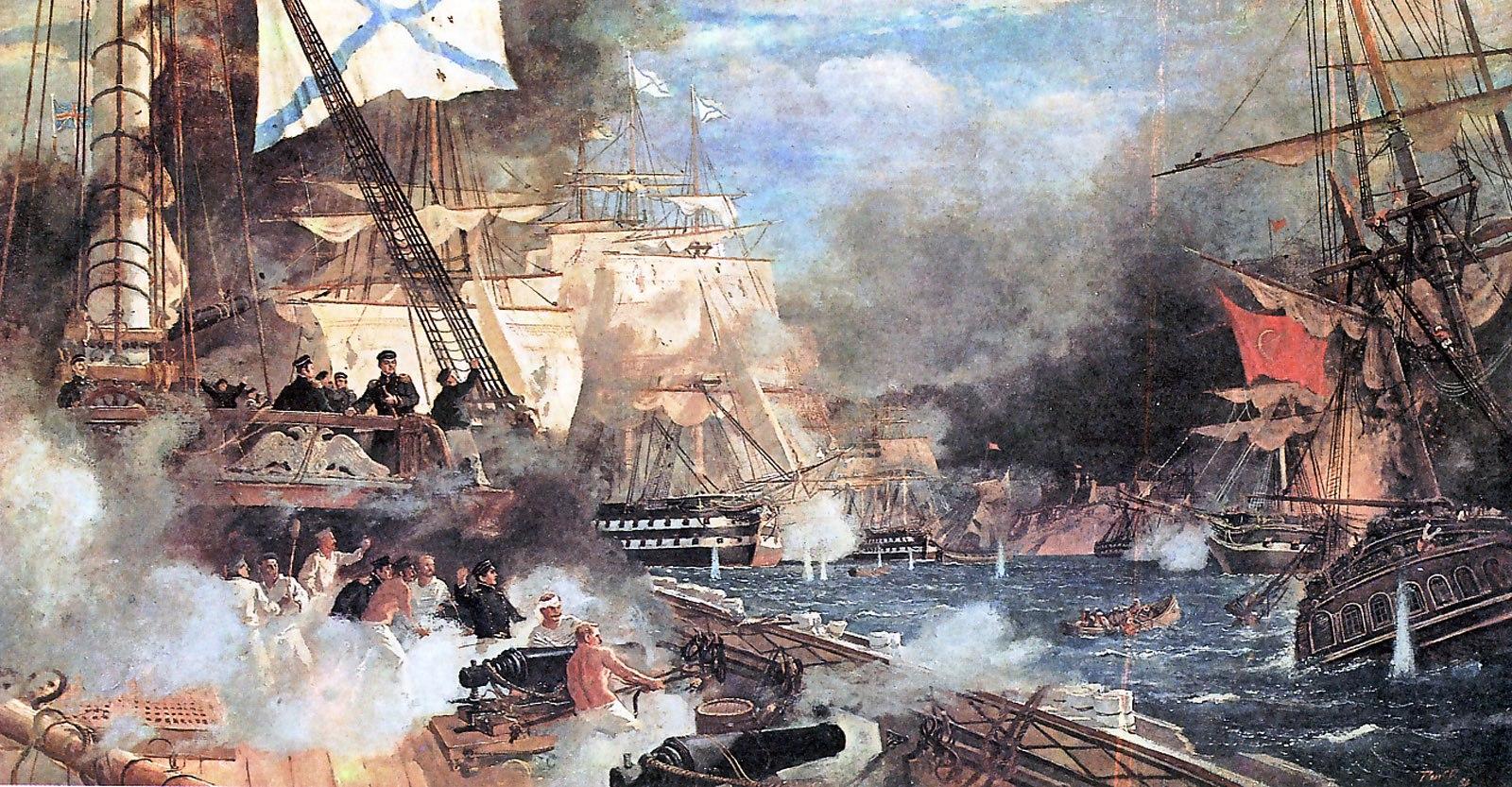 Наваринский бой 8 октября 1827 года. 1988 в собрании Государственного Владимиро-Суздальского музея-заповедника.jpg