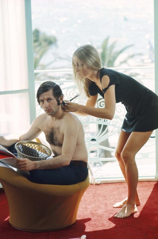 Roman Polanski & Sharon Tate, Cannes, 1968, by Jack Garofalo.jpg