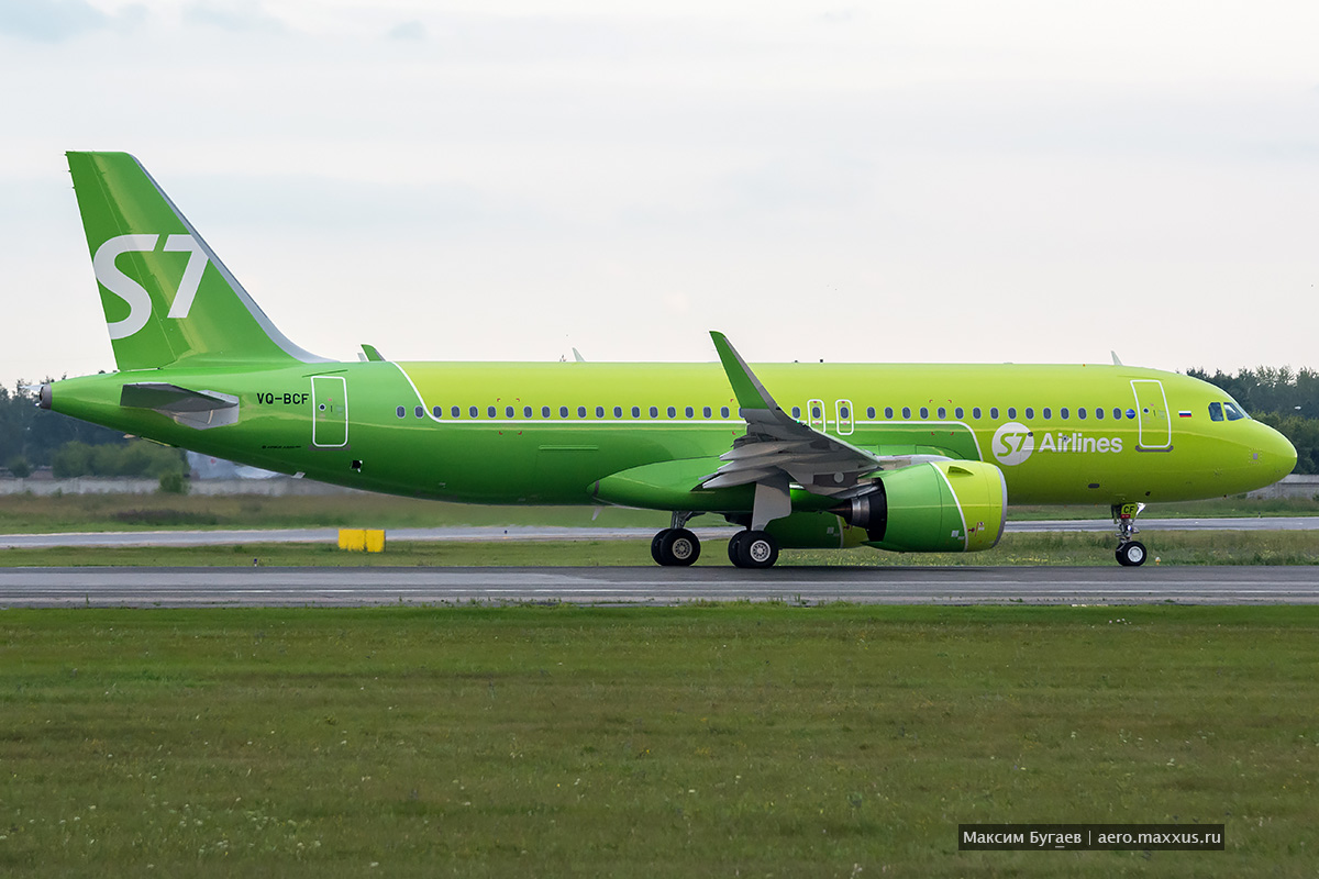 First Airbus A320neo for S7 and all russian airlines. Photo by Max Bugaev