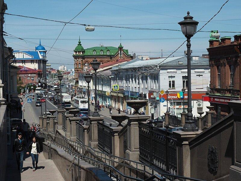 Россия, Томск - проспект Ленина (Russia, Tomsk - Lenin Avenue)