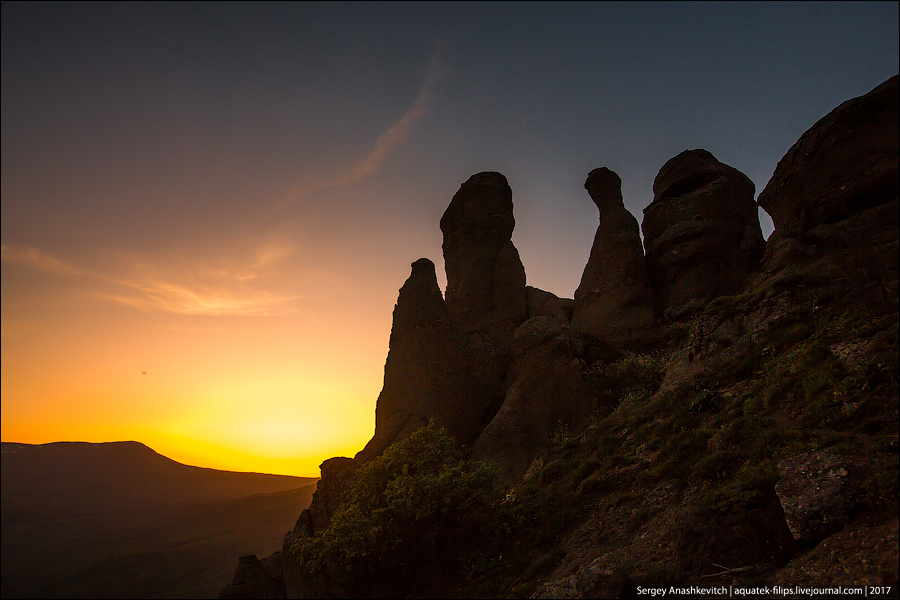 Закат в Долине Привидений