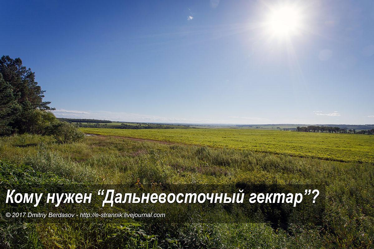 """Кому нужен """"Дальневосточный гектар""""?"""