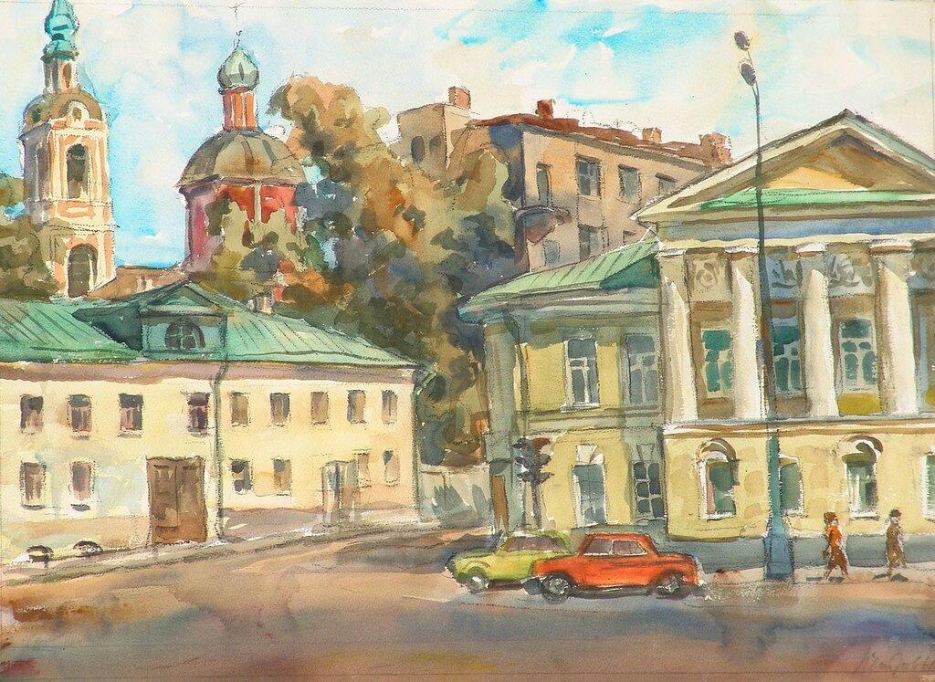 У Яузких ворот .Москва 1986 год.jpg