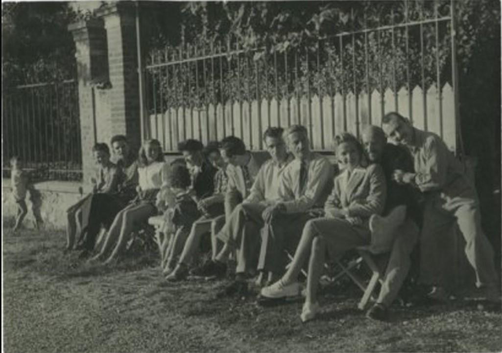 1950. Пьер Превер и его команда. Жуанвиль-ле-Пон