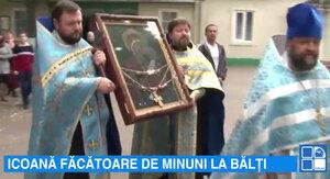 Icoana Odighitria a fost adusă la Bălţi