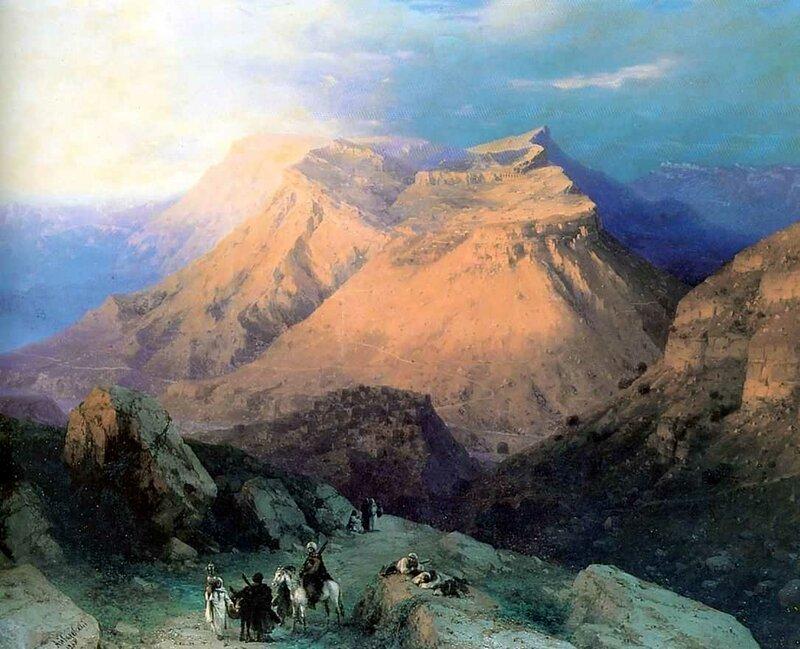Аул Гуниб в Дагестане 1869 год