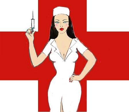 С днем медсестер! Медсестра держит шприц открытки фото рисунки картинки поздравления