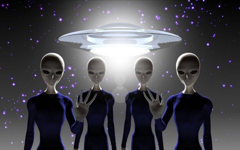 Открытки. Всемирный день НЛО. Инопланетяне и их корабль! открытки фото рисунки картинки поздравления