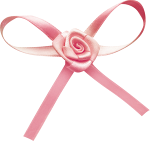 розовые банты