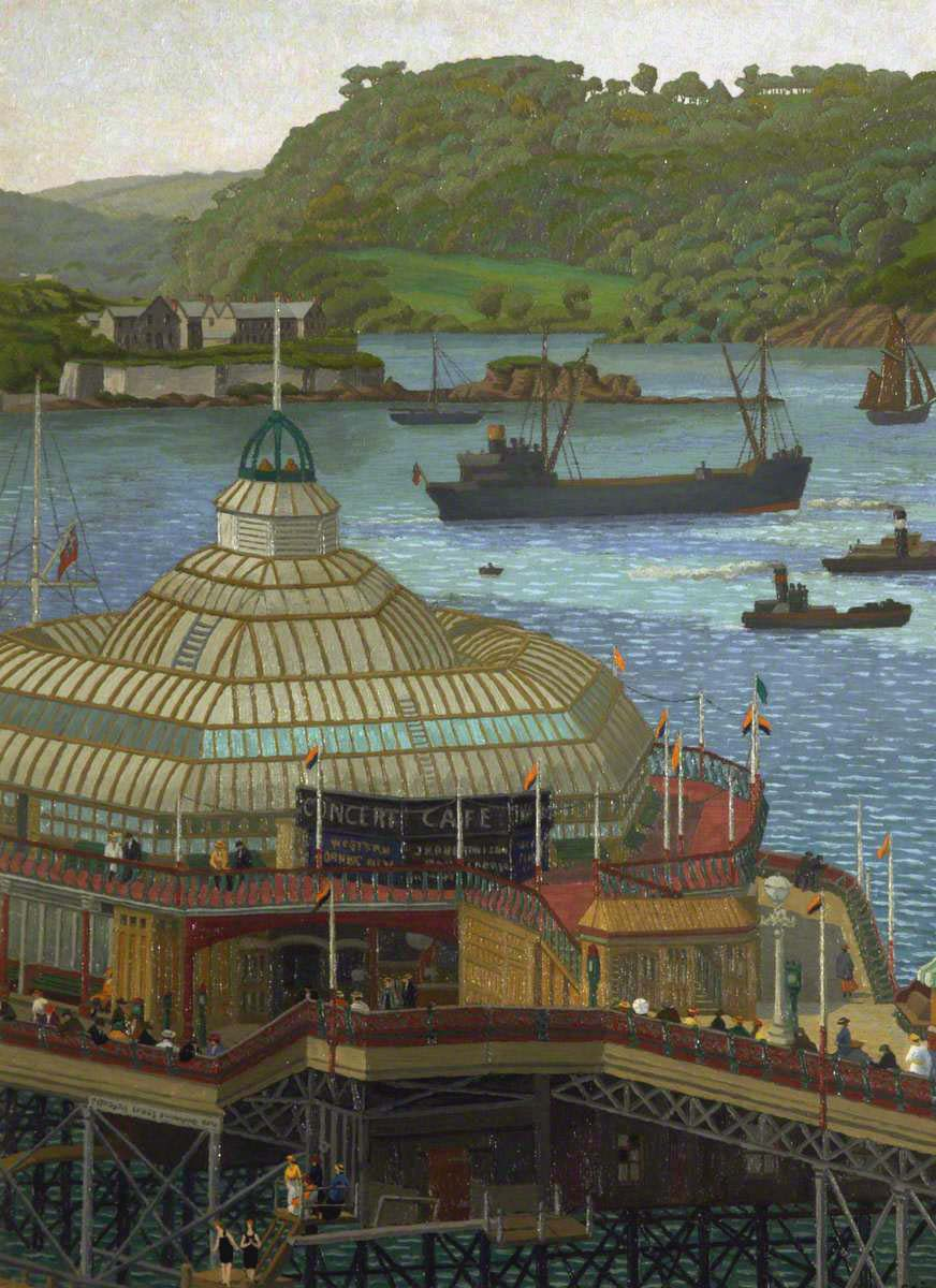 Ginner, Charles, 1878-1952; Plymouth Pier from the Hoe
