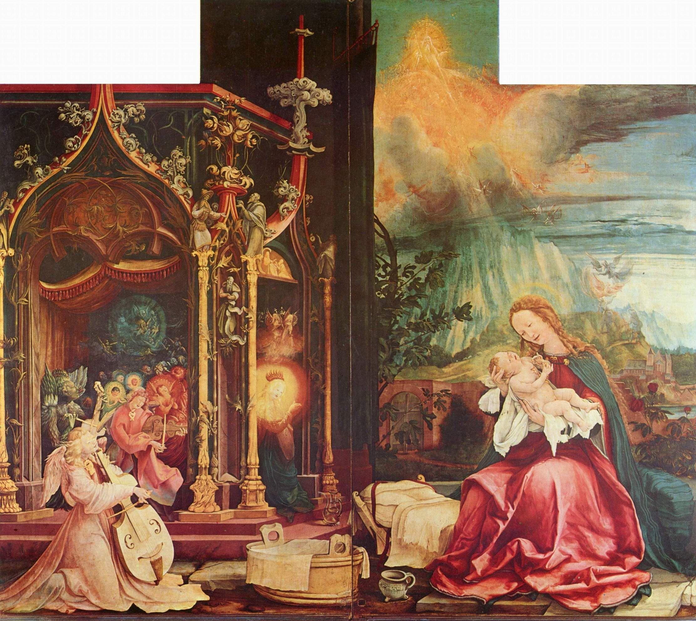 Матис Готхарт Грюневальд.Инзенгеймский алтарь. Рождество Христово.jpg