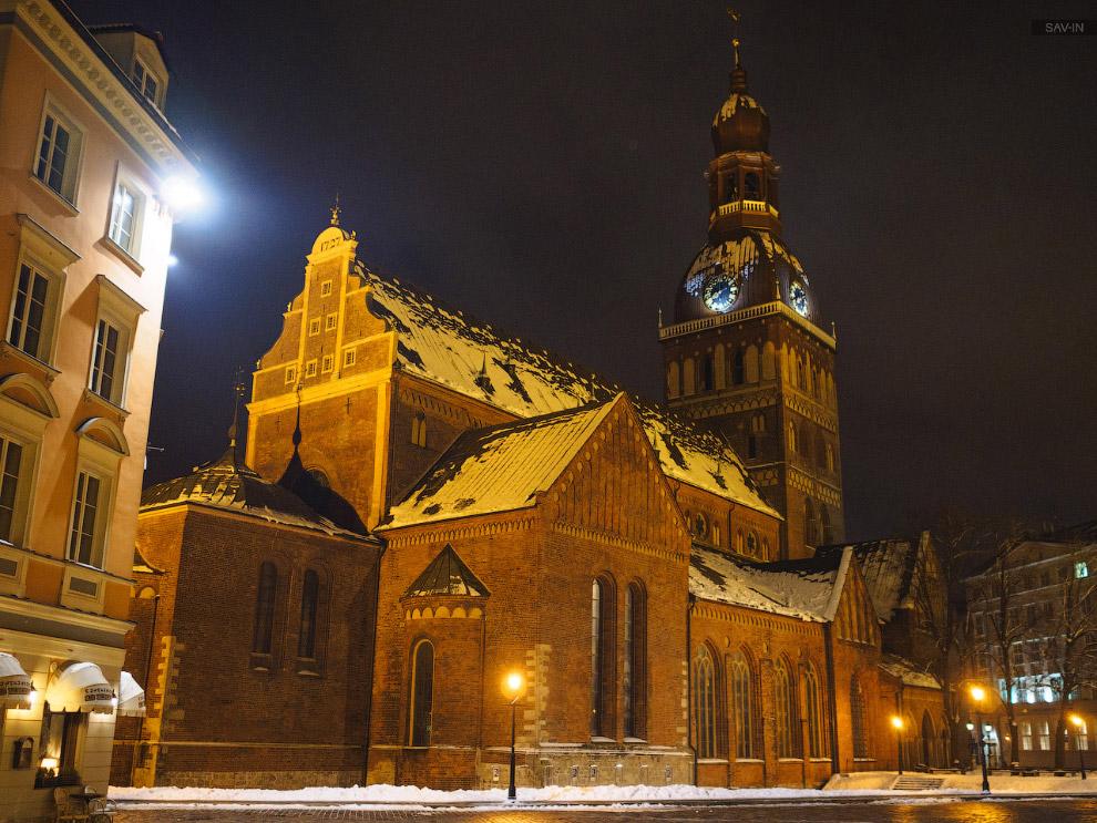 7. И снег! Мнооого снега! Что для Риги, как я понимаю, довольно редкое явление.