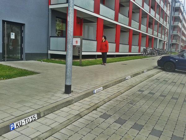 Известное всему городу студенческое общежитие на аллее Карла Маркса. Совсем недавно было серо-бурой