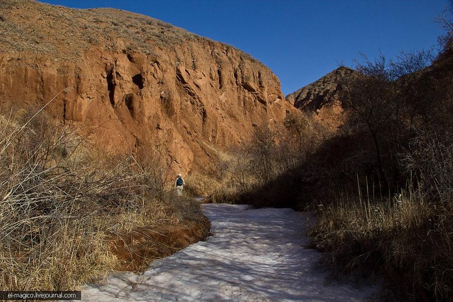 Выходить надо было рано с утра, чтобы была возможность идти по замерзшей земле и не тонуть в грязи.