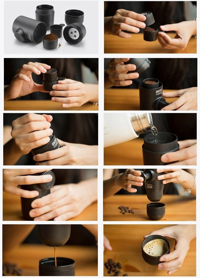 Ручная мини кофеварка эспрессо