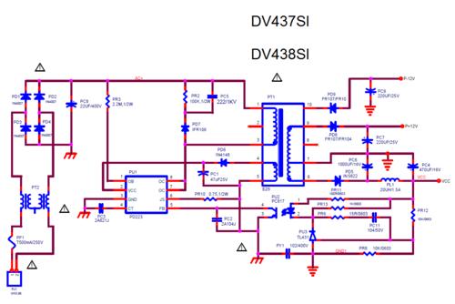 питания - Блок питания DVD проигрывателя BBK DV437SI/DV438SI 0_18f3af_15c6a572_L