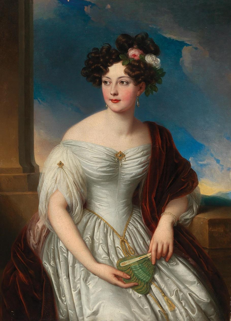 Portrait of Pauline of Württemberg (1800–1873) before a landscape background, 1831