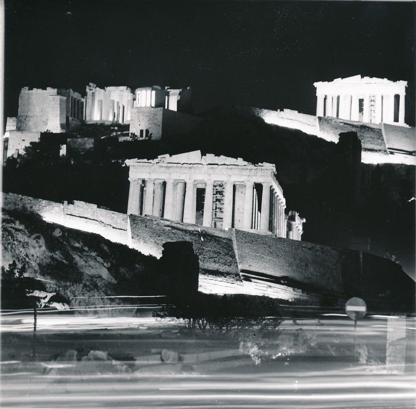 1960. Афины. Акрополь ночью