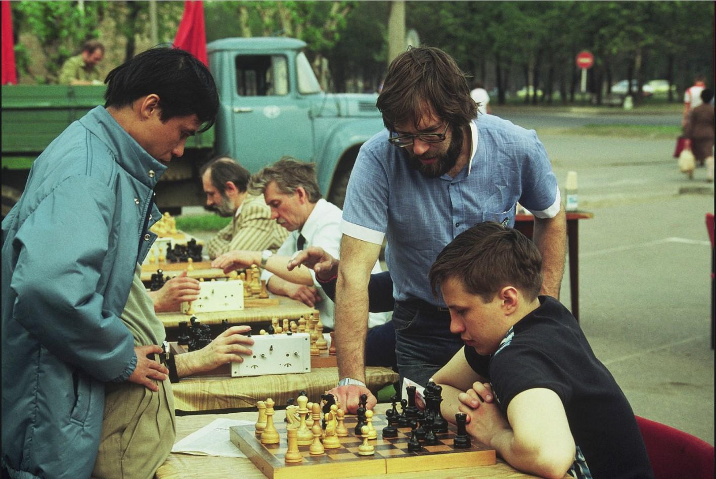 Шахматы в парке Горького