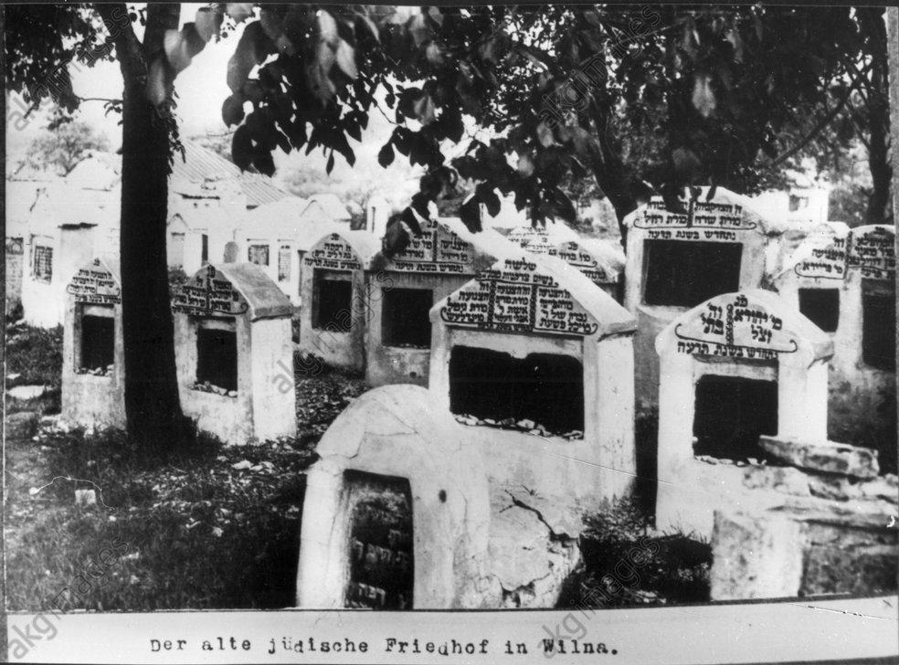 Wilna, Jьd.Friedhof / Foto 1915 - -