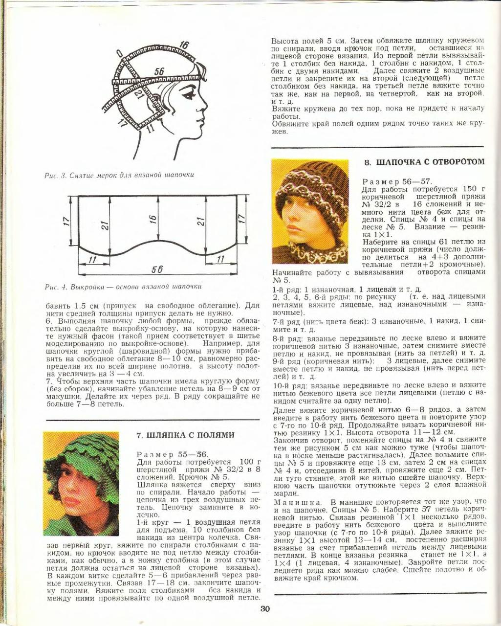 Расчет вязания детской шапки по меркам и по возрасту 2