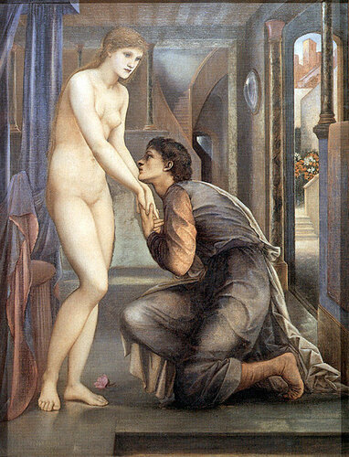Edward Burne-Jones Pygmalion And Galatea  Пигмалион и Галатея