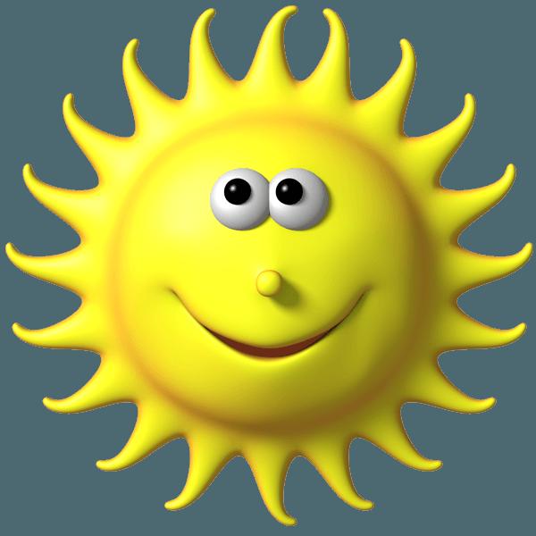 Открытки. 3 мая День Солнца! Солнышко с круглым носиком!