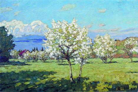 «Цветущие вишни», художник П.Петровичев, 1919