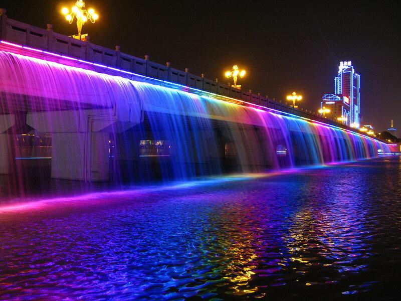 Южная Корея - Мост-фонтан Панпхо в Сеуле (фото)