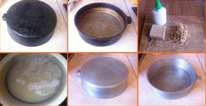 Существует множество порошков и жидкостей для борьбы с застарелыми и свежими загрязнениями на посуде