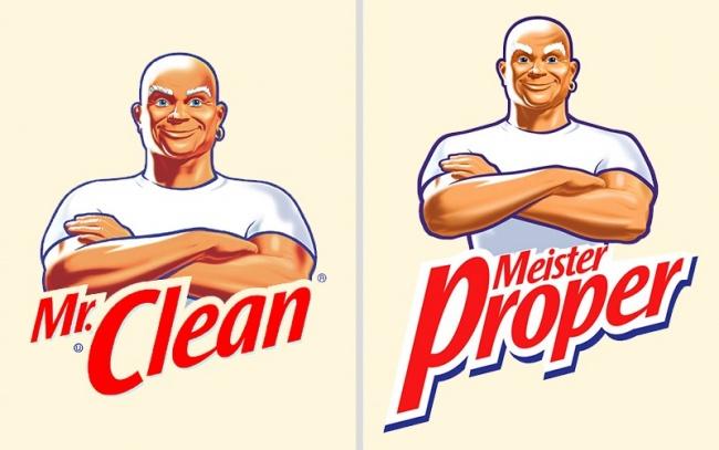 © Procter & Gamble  Рекордсменом почислу переименований стал бренд Mr. Clean. Практически вк