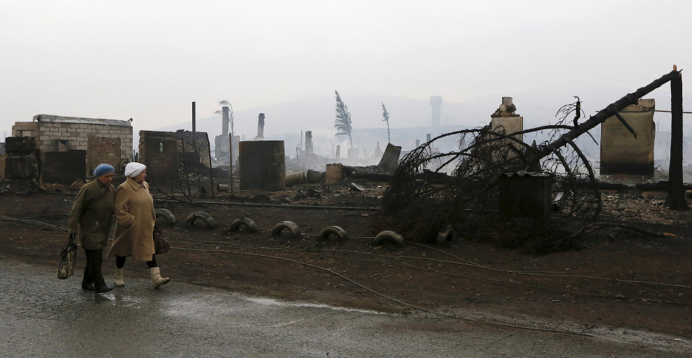 15. Поселок Шира, Хакасия, 13 апреля 2015. (Фото Ilya Naymushin | Reuters):