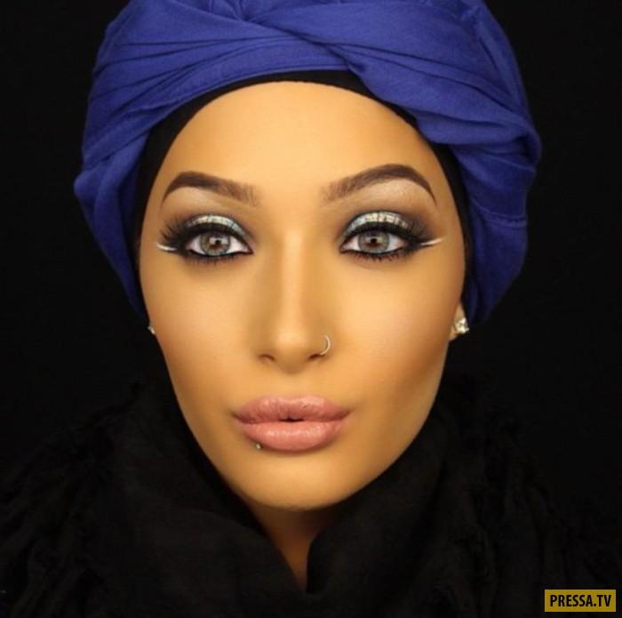 Нура проживает в США, но придерживаясь мусульманских традиций, носит закрытую одежду и головной убор