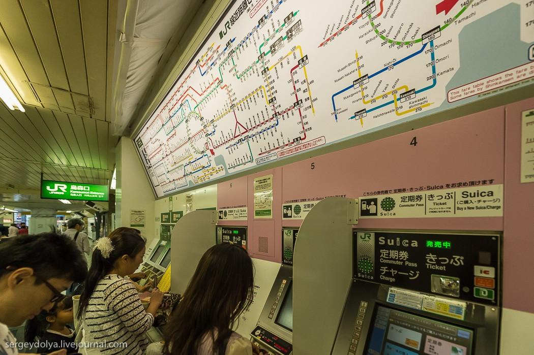 23. В поисках знаменитого перекрестка Сибуя спустились в метро.