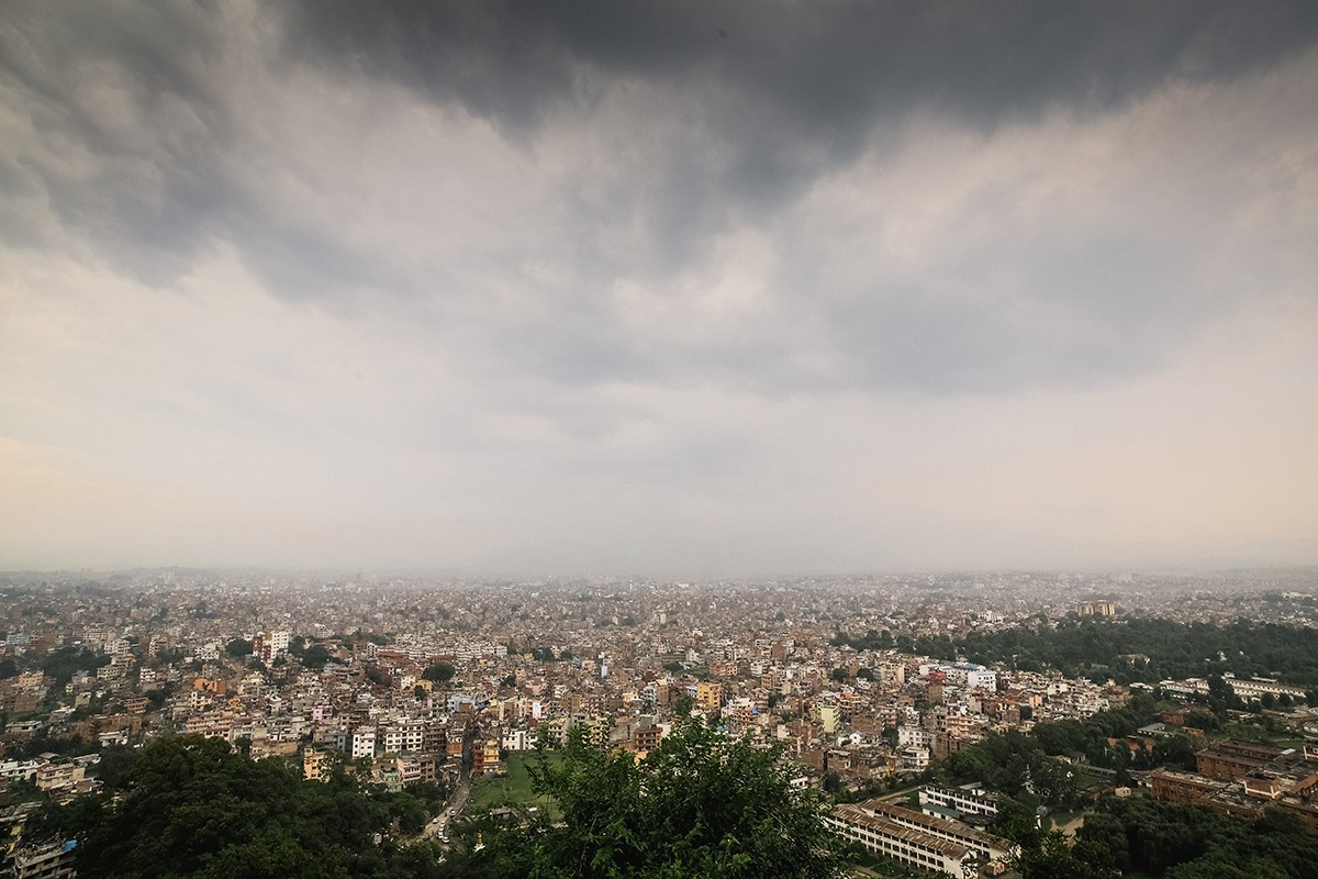 20. Со ступы открывается замечательный вид на долину Катманду.