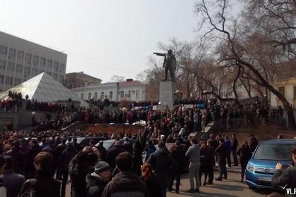 СМИ говорили о задержании участников митинга против коррупции воВладивостоке