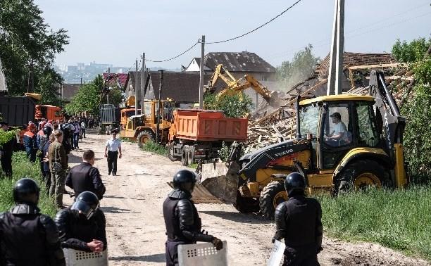 Есть такая замечательная традиция: в Туле опять сносят цыганские дома