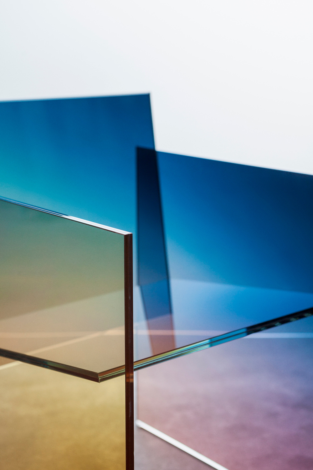 Beautiful Gradient Glass Chair by Germans Ermics