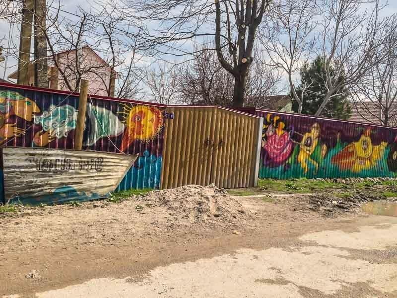 Арт-забор в селе Наниково