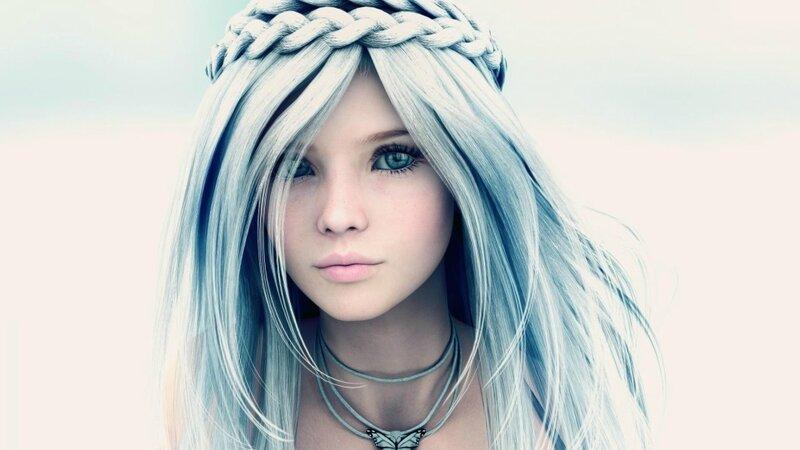 Девушка (виртуальное фото)